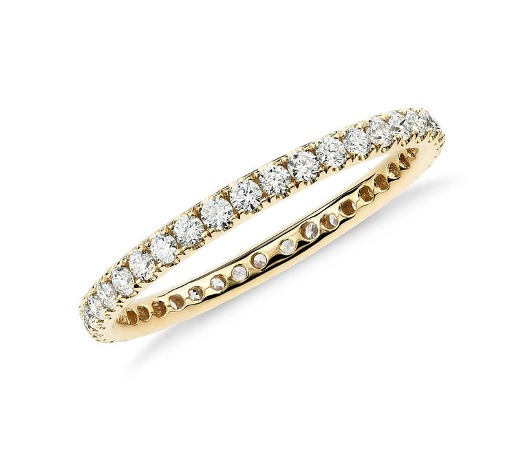 Eternity Band - Riviera Pave 18k Yellow Gold (1/2 ct tw)