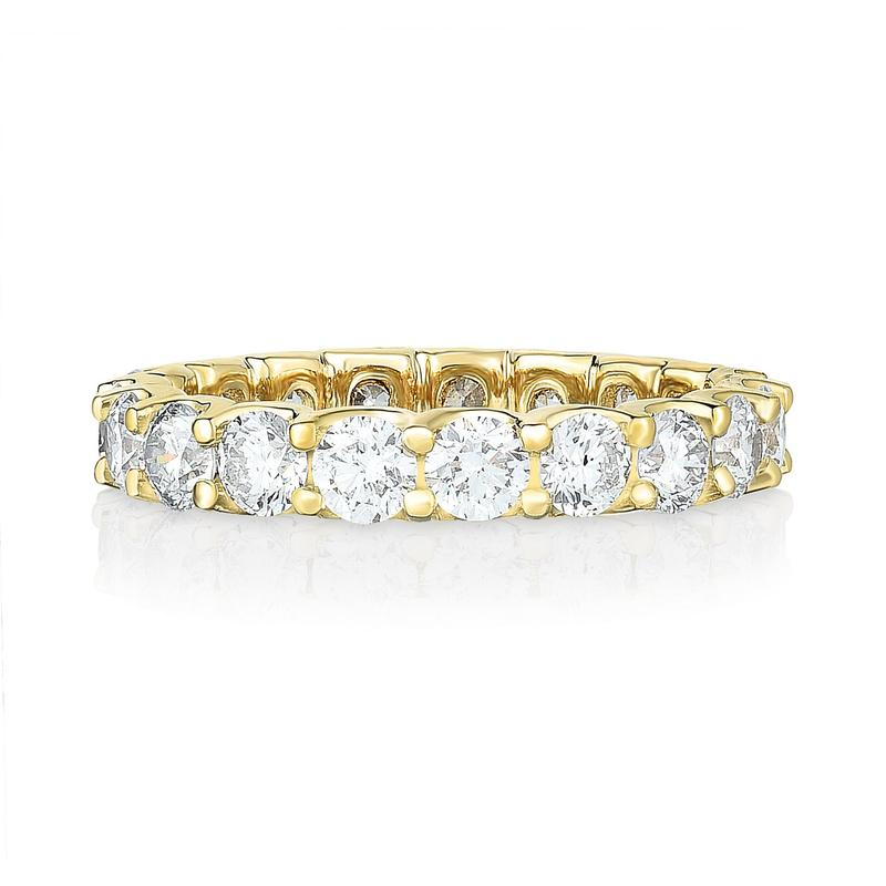 Eternity Band - Scallop 14K Yellow Gold (2ct-8ct)