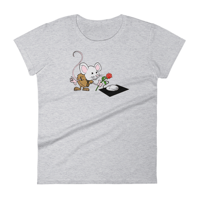 Pets In Tech Heather Grey / S Virtual Girlfriend Mouse - Women's short sleeve t-shirt