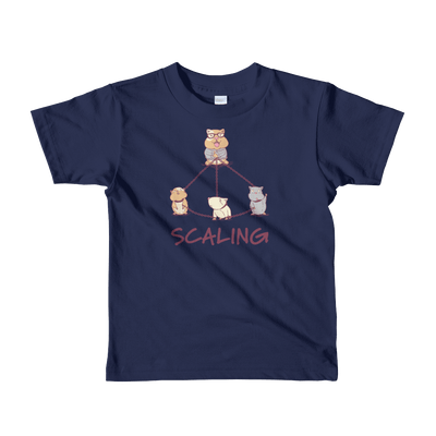 Pets In Tech Navy / 2yrs Master Slave Hamster - Short sleeve kids t-shirt