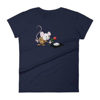 Pets In Tech Navy / S Virtual Girlfriend Mouse - Women's short sleeve t-shirt