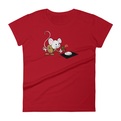 Pets In Tech Red / S Virtual Girlfriend Mouse - Women's short sleeve t-shirt