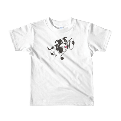 Pets In Tech White / 2yrs Selfie Dog - Short sleeve kids t-shirt