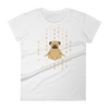 Pets In Tech White / S 1s 0s Meditating Pug - Women's short sleeve t-shirt