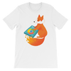 Pets In Tech White / S Chrome DJ Firefox - Short-Sleeve Unisex T-Shirt