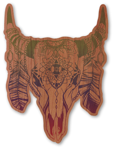 Color Cow Skull
