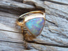 14k Gold Honeycomb Opal Ring