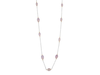 Black & Gold Collection Necklace - Pink Amethyst