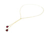 Watermelon Tourmaline Slice Lariat Necklace