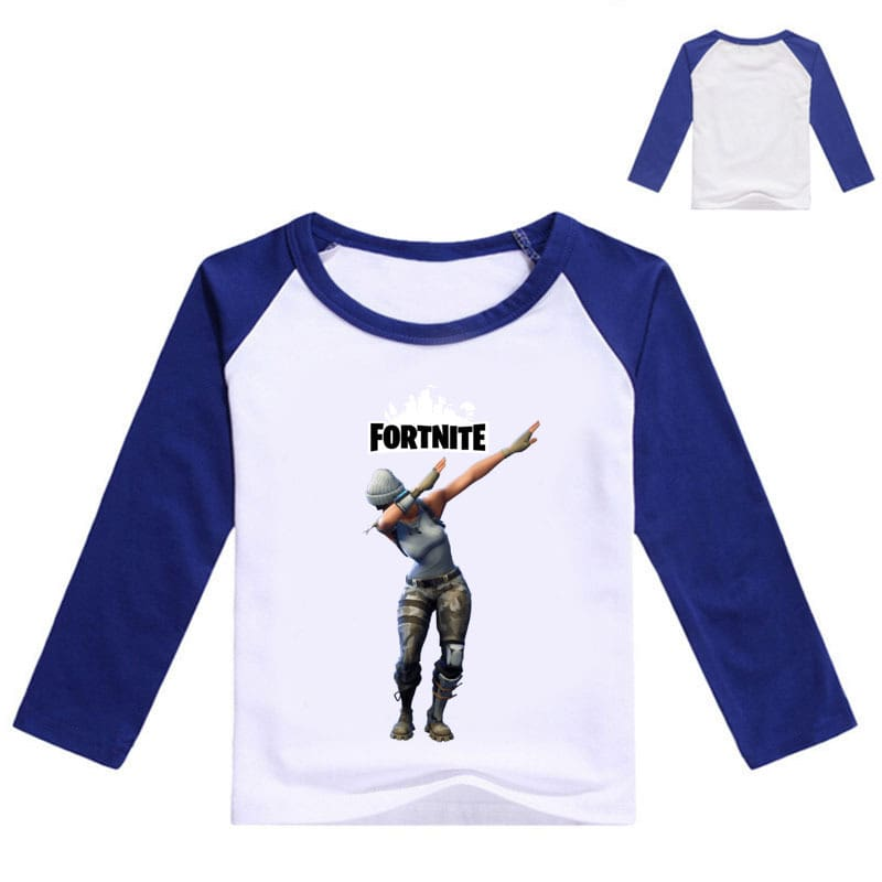Fortnight Children Battle Royale T Shirt Girls Long Sleeve Baby Girl Tops