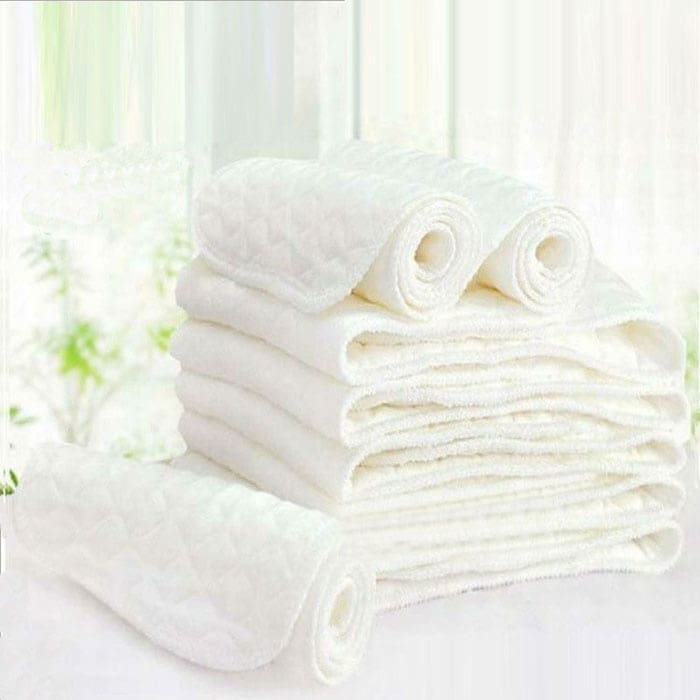 10 Pcs Washable Reusable Cotton Baby Nappies