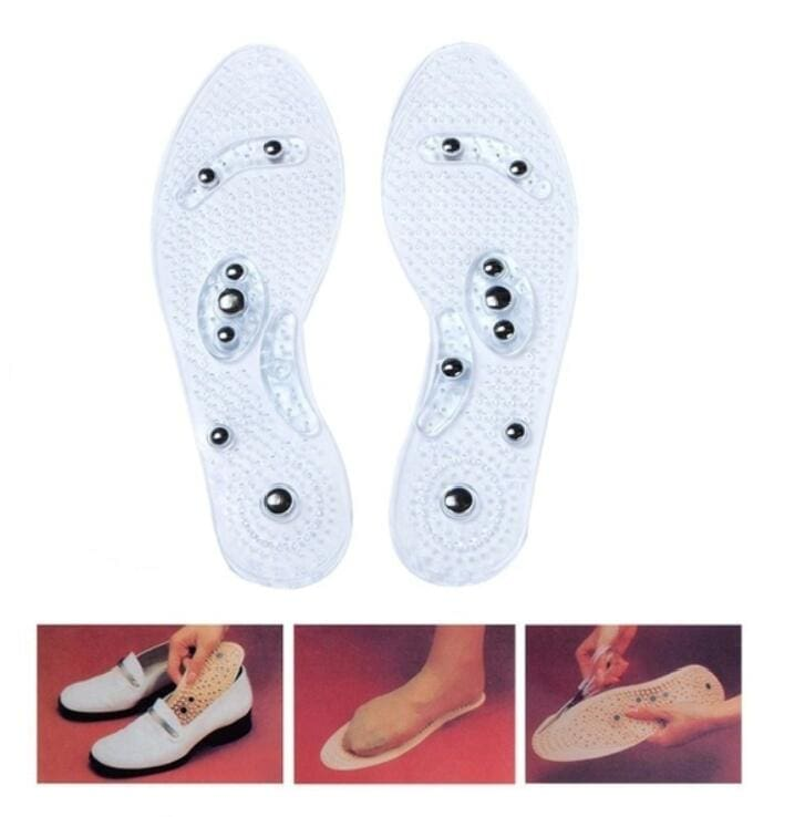 1Pair Shoe Gel Insoles Feet Magnetic Therapy Health Care for Men Comfort Pads Foot Care Relaxation Gifts