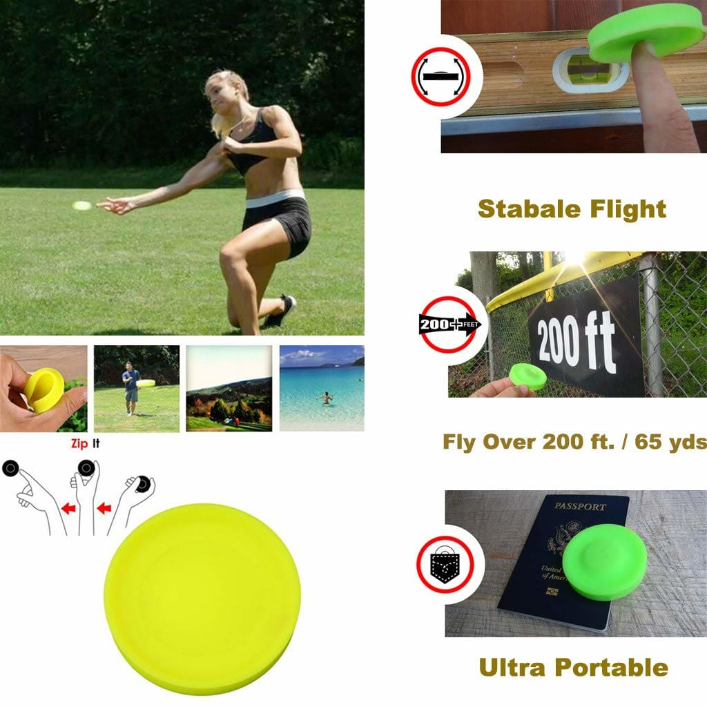 Mini Pocket Flexible Soft New Spin in Catching Game Flying Disc Catch Outside Game Great For kids & Adults