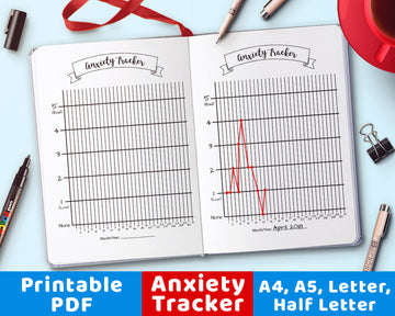 Bullet Journal Anxiety Tracker Printable