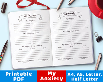 Bullet Journal My Anxiety Info Printable