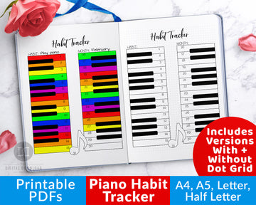 Piano Habit Tracker Printable