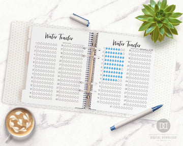 2 Water Tracker Printables