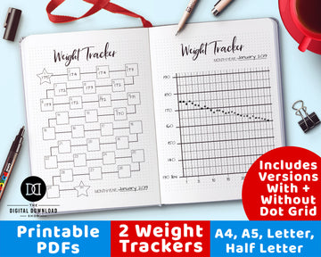 2 Weight Tracker Printables