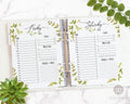 Daily Planner Printable- Watercolor Greenery