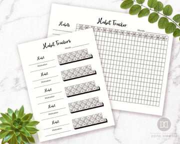 2 Habit Tracker Printables