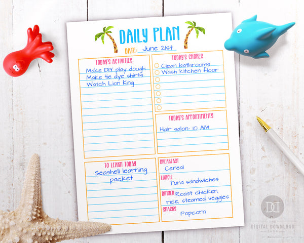 2019 summer activity planner pack- daily planner printable. Parents, your kids' 2019 summer vacation is sure to be amazing when you plan it out with this summer planner!