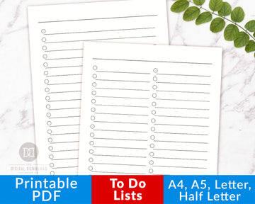 To Do List Printables- Large Layout