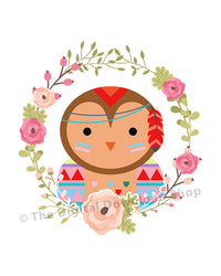 Tribal Owl Nursery Printable- The Digital Download Shop