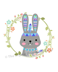 Tribal Rabbit Nursery Printable- The Digital Download Shop