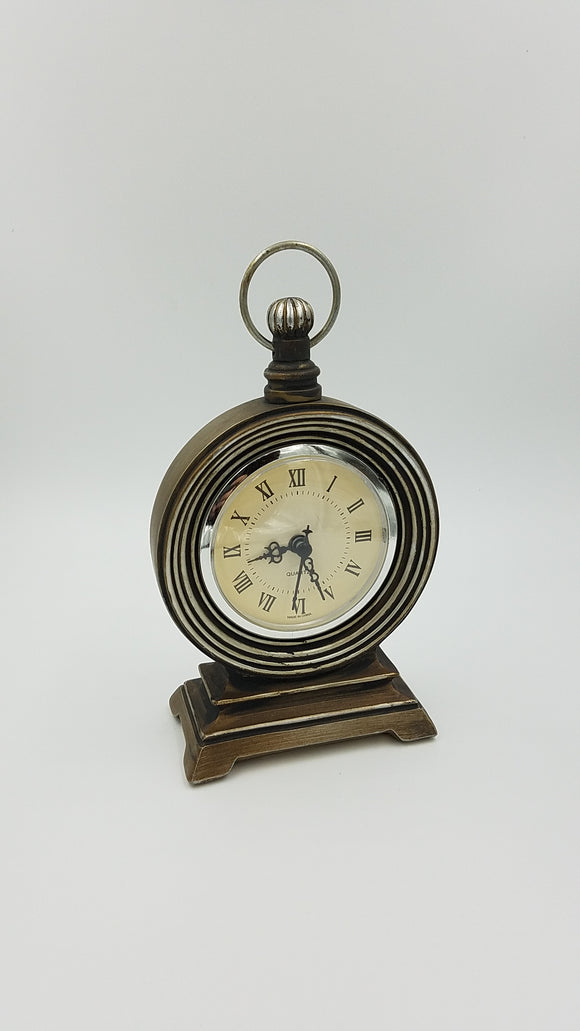 Prinz Mackenzie Antique Brass Clock