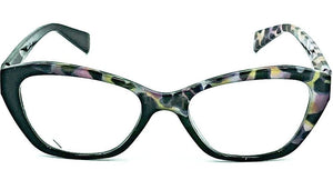 Luna Reading Glasses -Black/PurpleYellow-Front View