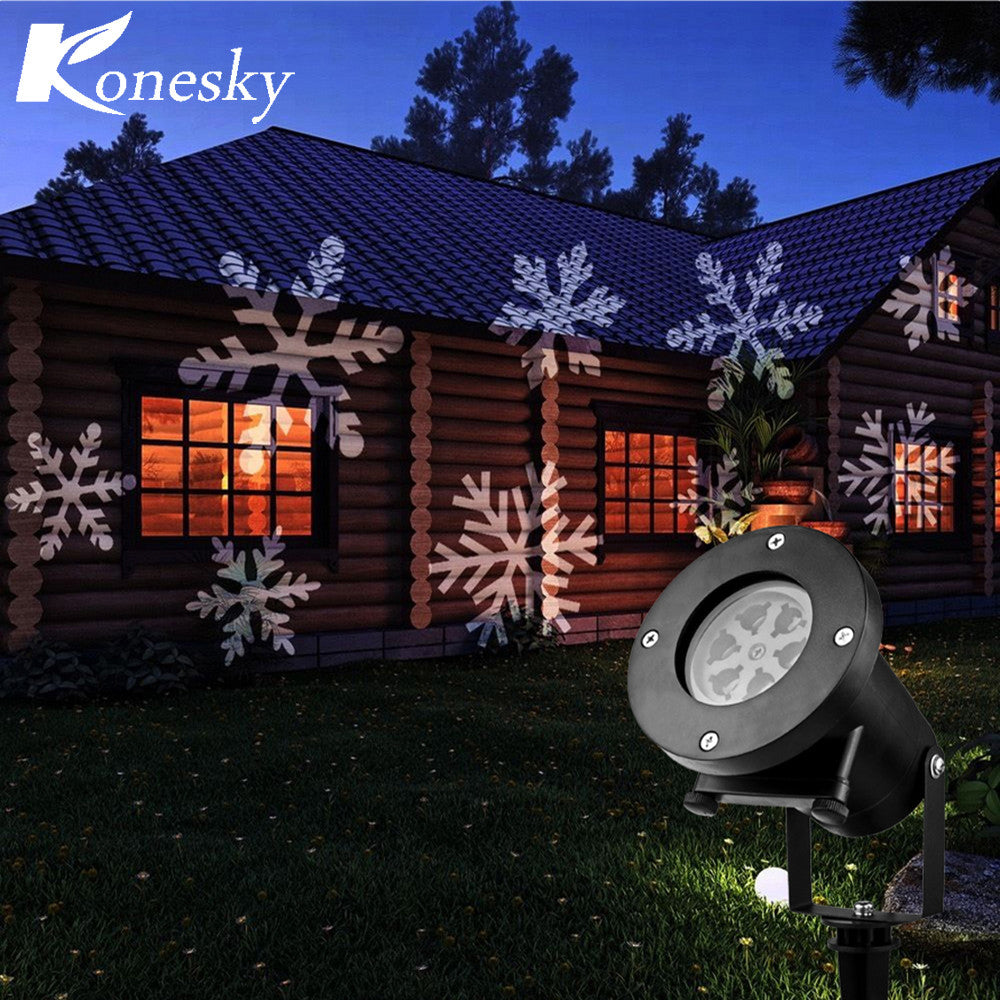 Christmas Snowflake Waterproof Outdoor LED Projector (12 scenes)