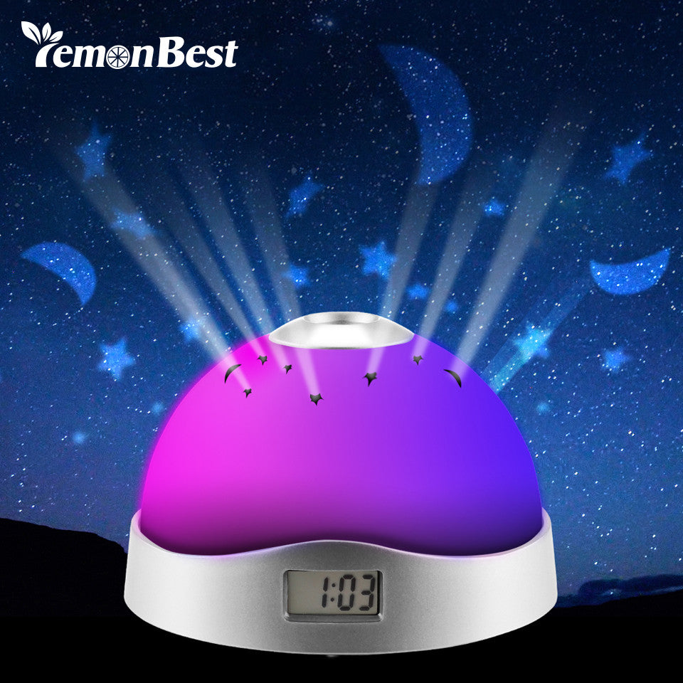 Colorful Sky Projector Lamp Alarm Clock