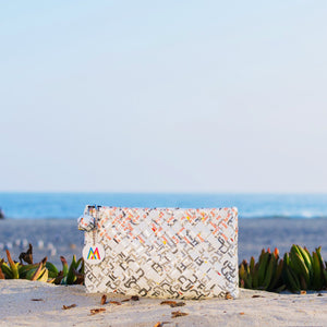 Mother Erth - White Woven Clutch | Handmade and Eco Friendly