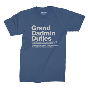 Grand Dadmin Duties Navy T-Shirt