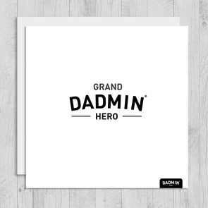 Grand-Dadmin Hero Greeting Card