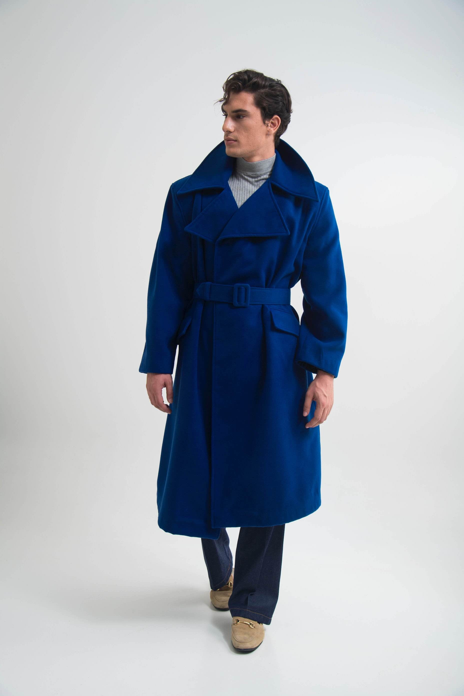 OVERSIZED COAT (ONE SIZE) BLUE ELECTRIC