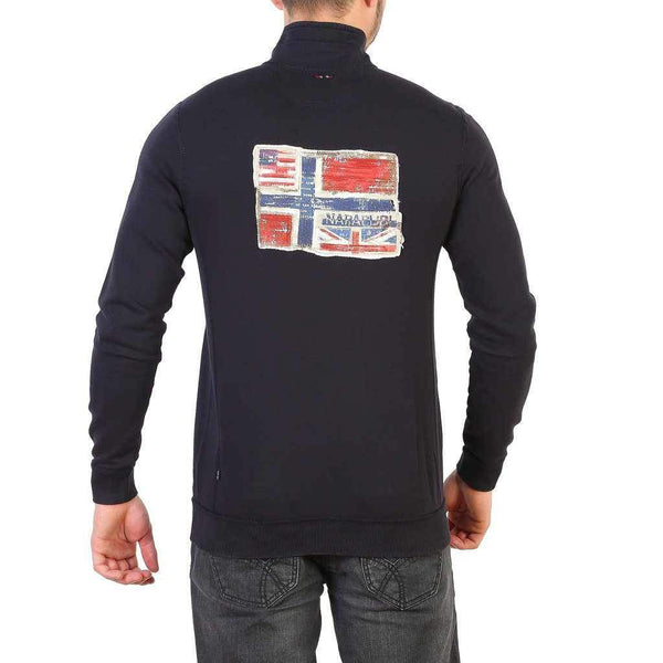 Sweatshirt Napapijri With Flag on Back - N0YHCG-1Style.ch