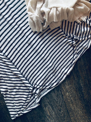 Flouncy Striped Tee