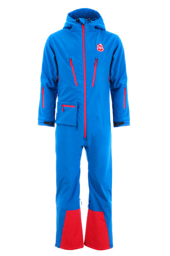 All in one ski suit in blue from Red7SkiWear