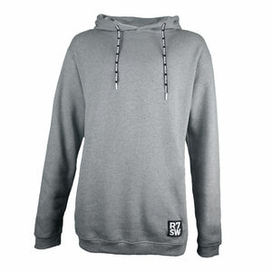 GREY R7SW SOFT COTTON HOODIE - RED7 SKI WEAR SUSTAINABLE CLOTHING
