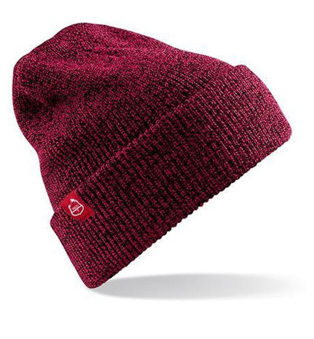 BURGUNDY BEANIE HAT- RED7 SKI WEAR