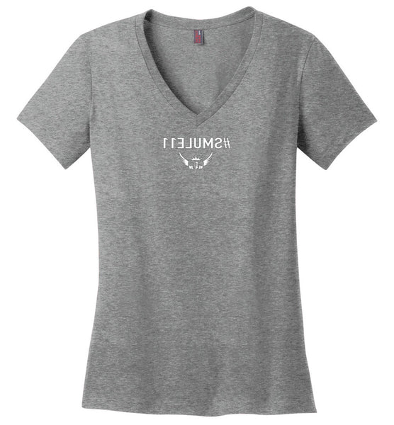 Women's  #SMULE11 - Mirrored  V-Nk T-Shirt