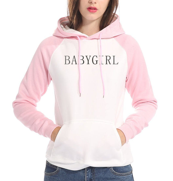 Pink BABYGIRL Hoodie Sweater Hooded Sweatshirt Pullover Kawaii ABDL Ageplay Littlespace