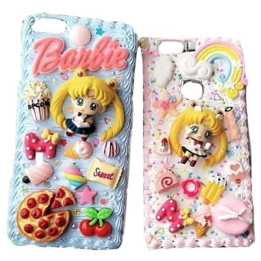 Sailor Moon iPhone Case Decoden Whipped Custom Case Magical Girl Mahou Shoujo Anime Sweets Candy Kawaii