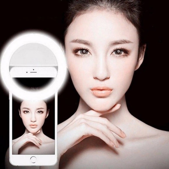 selfie ring light LED Professional photoshoot universal size for all phones clip on flashlight by kawaii babe