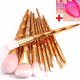 magical rainbow unicorn makeup brush set make up brushes lot complete pastel aesthetic mermaid diamond