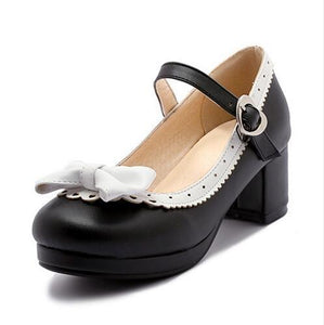 Sweet Lolita Babydoll Heels Pumps Shoes Bow Kawaii Fashion Cute Elegant EGL Style