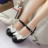 Sweet Black Lolita Babydoll Heels Pumps Shoes Bow Kawaii Fashion Cute Elegant EGL Style