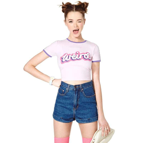 Weird Crop Top - Xs - Shirt