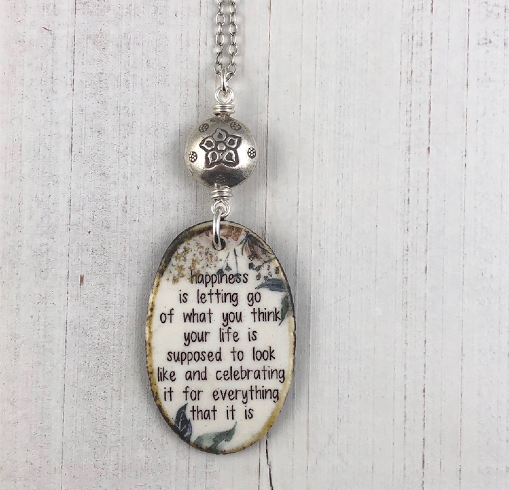 Affirmation Necklace Letting Go